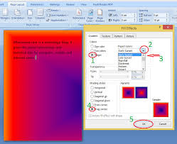 how to insert background in word add color image gradient