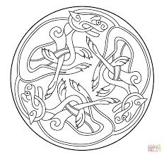 celtic ornament design from book of kells super coloring