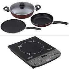 Non Stick Cookware For Induction Cooktops Padmini Essentia Kitchen Appliance Combos Buy Padmini Essentia