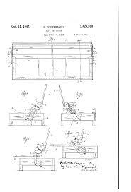 patent us2429260 sofa bed hinge google patents
