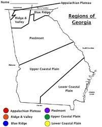 regions of georgia map worksheet by emac teachers pay teachers