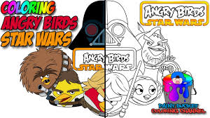 color angry birds star wars angry birds coloring
