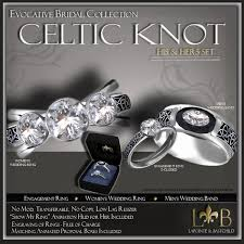 promise engagement and wedding ring set second marketplace wedding ring set his hers celtic