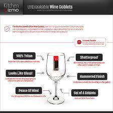 unbreakable wine goblets kitchen gizmo