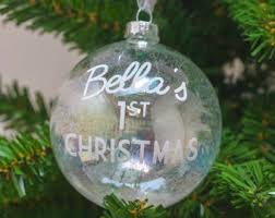 Personalised Baby S First Christmas Tree Bauble by Baby Bauble Etsy