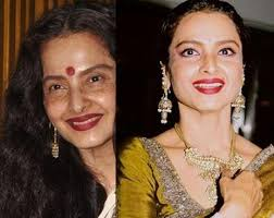 see rekha s real life pictures without makeup