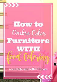 diy ombre color chalk paint with food coloring the beauty within