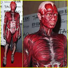 Anatomy Halloween Costumes Heidi Klum Dead Body Halloween Costume Heidi Klum Jared