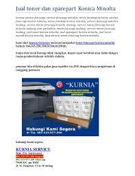 Toner Mesin Fotocopy Minolta jual toner dan sparepart konica minolta