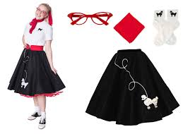 poodle skirt halloween costume hip hop 50s shop womens 4 pc poodle skirt halloween or