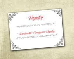 wedding registry cards wedding registry enclosure cards pdf instant