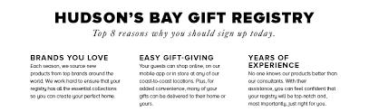 online gift registry gift registry kleinfeld hudson s bay