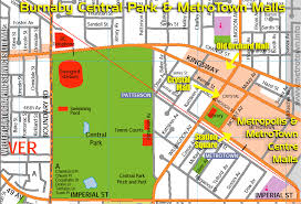 Map Of Vancouver Canada Map Of Burnaby Metrotown Area With Its Mega Malls And Outdoors