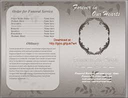Paper For Funeral Programs Funeral Program Template