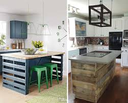 Pallet Kitchen Furniture Kitchen Ideas Diy Kitchen Island With Seating Diy Island Table
