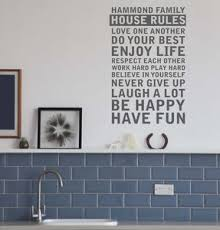Family House Rules House Rules Poster Print