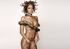 rihanna 2014 wallpapers rihanna got and put snakes on her head and body for british