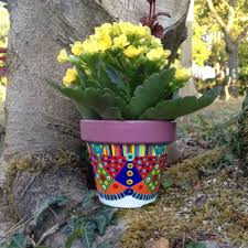 Small Flower Pot by Small Flower Pot Hand Painted