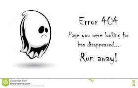 404 error page vector template for website halloween ghost