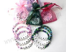 party favor bracelets 20 party favors personalized name bracelets bright colorful