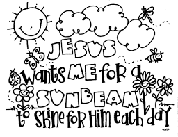 lds sunbeam coloring pages eson