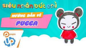 drawing and coloring pucca from pucca and garu