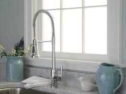 kitchen faucet awesome coiled kitchen faucet industrial style