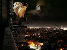 city halloween dark horror gothic vampire women evil cities night halloween cg