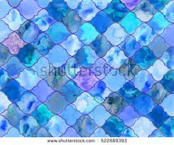 blue quatrefoil wallpaper quatrefoil background handdrawn eastern tiles ornate stock