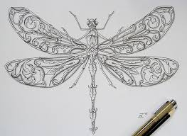 dragonfly ornament on behance