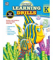 daily learning drills workbook grade k carson dellosa publishing