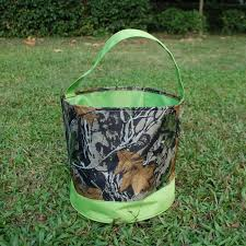 wholesale easter buckets camo easter basket