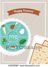 pesach plate clipart of passover dinner seder pesach table with passover