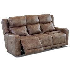 Klaussner Couch Power Reclining Sofa With Power Adjustable Headrest And Lumbar By