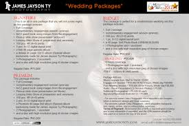 Wedding Packages Wedding Packages James Jayson Ty Cebu Wedding Photographer