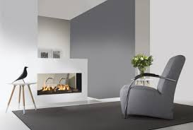 gas fireplace contemporary closed hearth 2 sided tenore