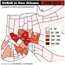 7th Ward New Orleans Map by Airbnb Rentals In New Orleans Growing At Explosive Rate Data