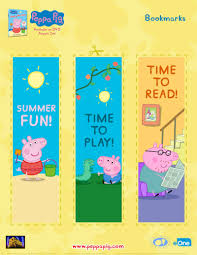 free peppa pig bookmarks printable coloring pages crafts u0026