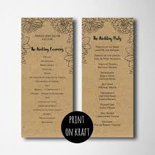 Country Wedding Programs 91 Best Wedding Programs Images On Pinterest Seating Charts