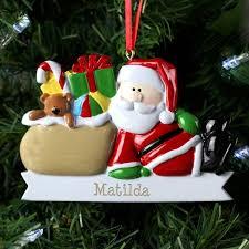 personalised santa claus resin christmas tree decoration https