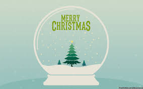 merry christmas snow globe wallpaper freechristmaswallpapers net