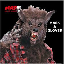 scary werewolf gloves hands mens horror film halloween fancy dress