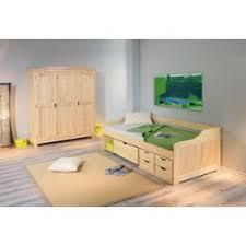 chambre enfant bois massif gigogne maxima 90 x 200 lit tiroir banquette meuble enfant bois