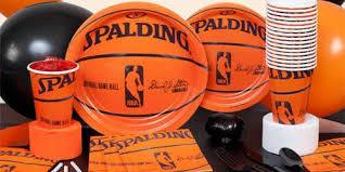 basketball party supplies spalding basketball birthday supplies the birthday depot