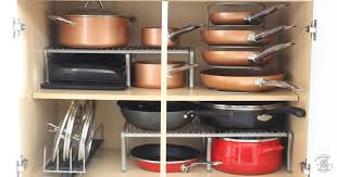 how to organize pots and pans in cabinet how to keep pots and pans organized neat house sweet home