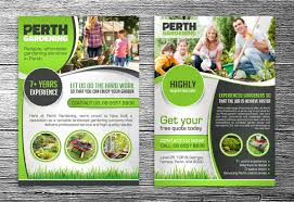 job quotes perth professional serious flyer design for perth landscaping