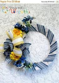 burlap wreaths for sale on sale denim wrapped burlap floral wreath summer burlap wreath