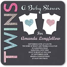 Couple Shower Invitations Twin Or Multiples Couples Shower Baby Shower Invitations Custom