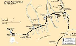 denali national park map denali national park nationalparkofchina com