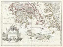 Map Of Crete Greece by 1794 Delisle Map Of Southern Ancient Greece Greeks Isles And